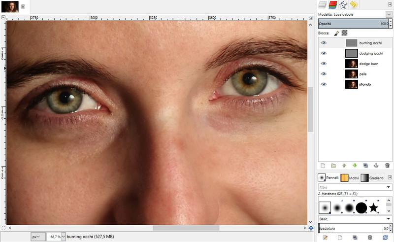 Step 3 – Correzione occhi